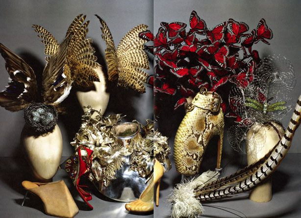 Hats by Philip Treacy for Alexander McQueen, from the Metropolitan Museum of Art's catalog for the show.