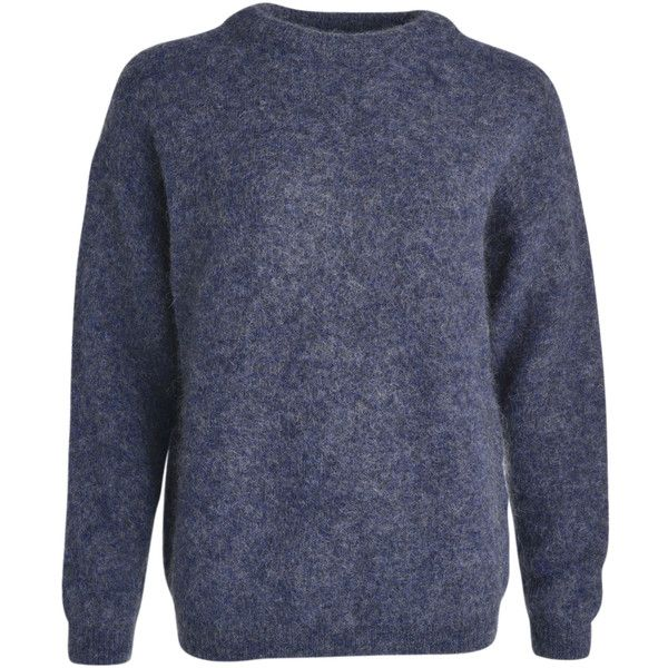 Acne Studios Dramatic Mohair oversize knit sweater (2 670 SEK) ❤ liked on Polyvore featuring tops, sweaters, mohair sweater, knit sweater, knit top, oversized knit sweaters and acne studios
