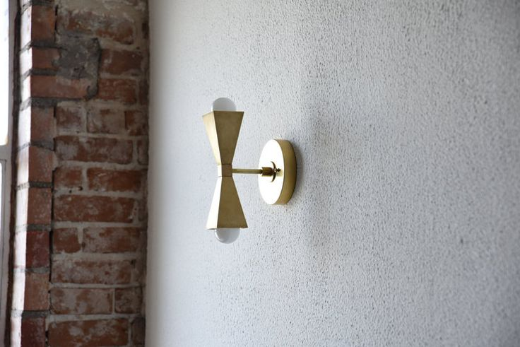 Free Shipping! Gold Brass 2 Bulb Modern Abstract Wall Sconce Vanity Mid Century Industrial Art Deco Craftsman Light Bathroom UL Listed Ask a question $139.00 Quantity
