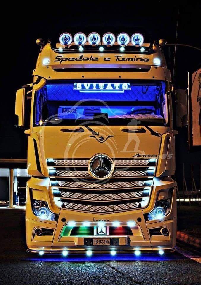 Mb Trucks Vid Pered Autoslaster Laserauto