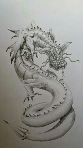 Дракон рисунок карандаш