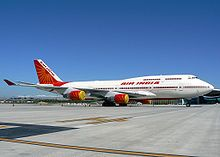 Air India One (AIC001) is the call-sign of any aircraft with the Prime Minister of India, President of India or the Vice President of India on board. Since 2003, four Boeing 747-437B, equipped with jamming equipment, anti-missile systems and air-to-air refueling facility, have been used as Air India One. The aircraft are operated by the Indian Air Force (IAF). The IAF's Air Headquarters Communications Squadron, based at Indira Gandhi International Airport in New Delhi.
