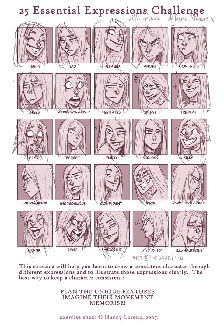expression sheet - Anne Marie by Fukari on DeviantArt