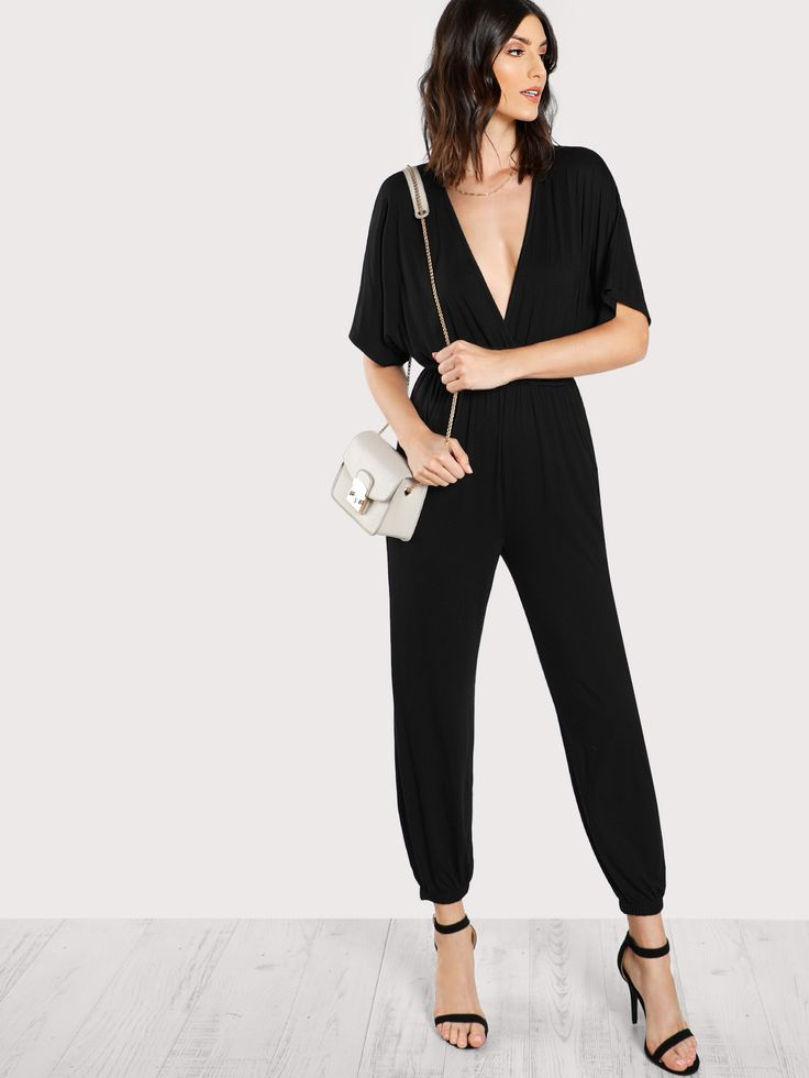 Shop Elastic Waist And Leg Kimono Jumpsuit online. SheIn offers Elastic Waist And Leg Kimono Jumpsuit & more to fit your fashionable needs.