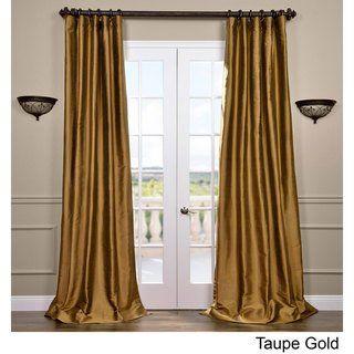 Exclusive Fabrics Signature Thai Silk 96-inch Curtain (Bold Red – 96″L)