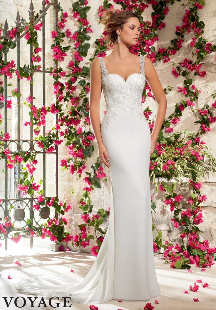 43 best Cool Column and Sensational Sheath Wedding Dresses images on ...