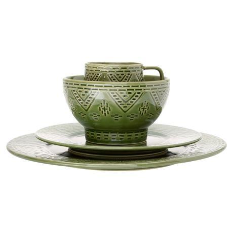 Montezuma Side Plate  Olive