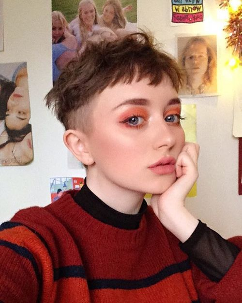 brxxklyn Best Picture For tomboy fashion For Your Taste You are looking for something, and it is Cut My Hair, New Hair, Your Hair, Shot Hair Styles, Curly Hair Styles, Hair Inspo, Hair Inspiration, Rides Front, Shaved Hair