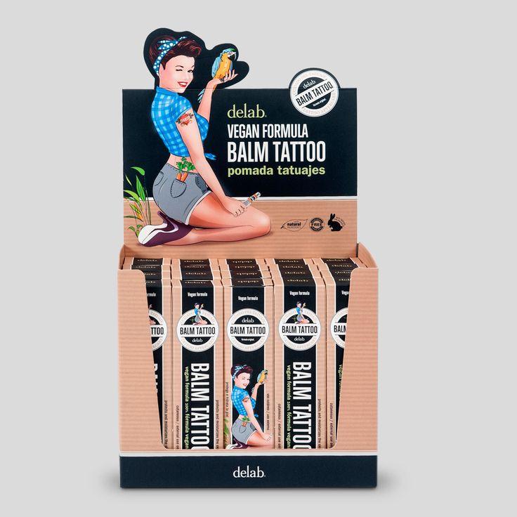 Balsamo 100% natural con manteca de Karité, aceite de Calendula, Aloe Vera, alta concentración de Panthenol y sepitonic M3. Especialmente desarrollada para el cuidado de la piel tatuada. Cruelty Free - Vegan Friendly