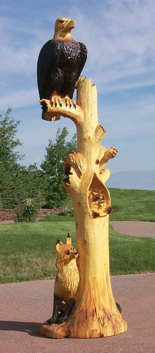 「tree carvings」のおすすめ画像 件 pinterest 木の彫刻、木工、木彫り