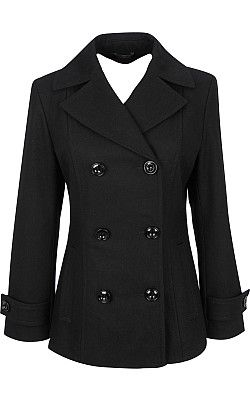 17 Best ideas about Black Pea Coats on Pinterest | Pea coat, Wool ...