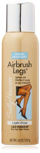 #Sally Hansen airbrush legs new enhanced coverage. Spray-on makeup with enhanced coverage makes legs look and feel silky smooth and sexy. Stays fresh and natural...