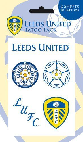 Leeds United Temporary Tattoos by Leeds United. $8.99. Official Licensed Product. 10 tattoos on 2 sheets. 10x17cm. UK Import. Cellophane packed packet of temporary tattoos, great for parties!