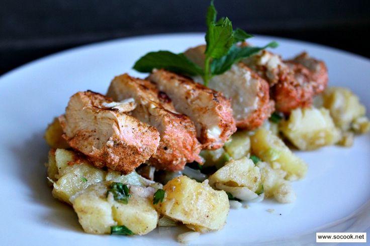 salade de pommes de terre et poulet tandoori