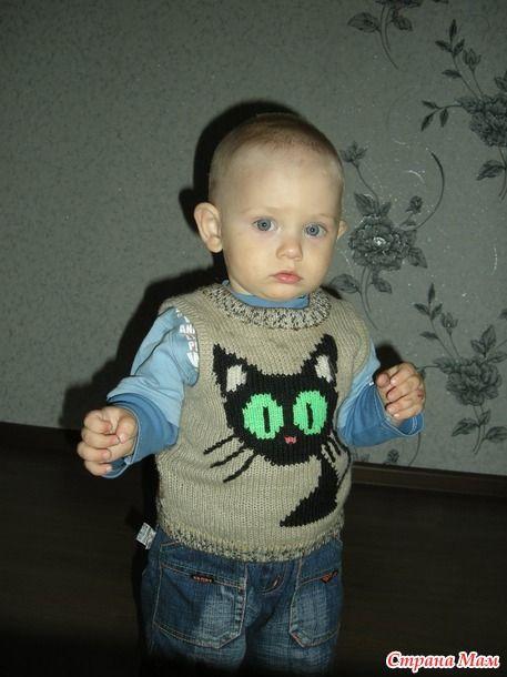. Помогите схемками узора кошек для детского свитера? - Вязание спицами - Страна Мам