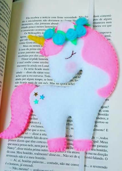 Unicorn Bookmark Free Sewing Pattern