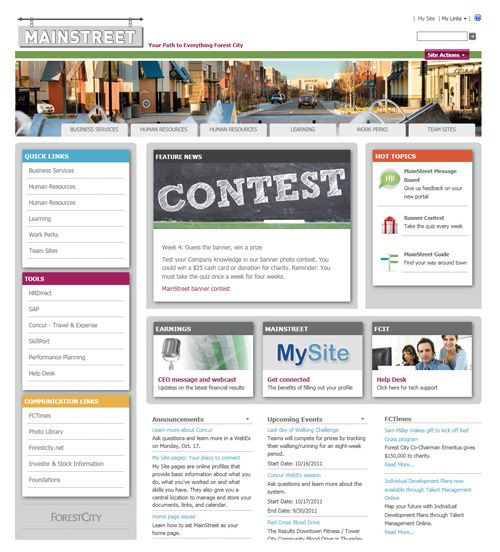 11 Best Images About Sharepoint Intranet Homepage Ideas On