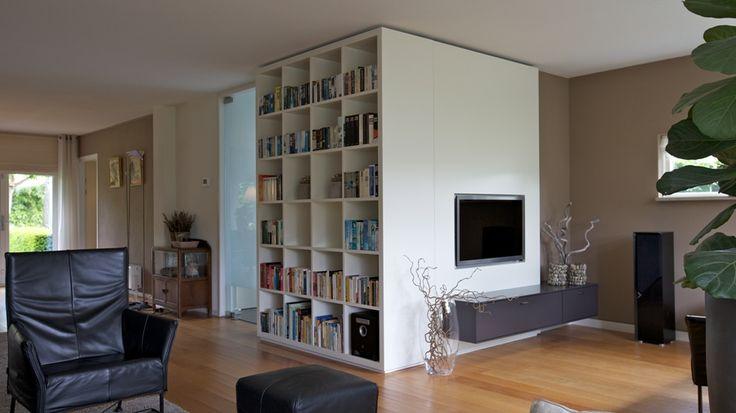 Boekenkast met tv wand  boekenkasten  Pinterest  Wands  ~ Tv Wand Op Maat