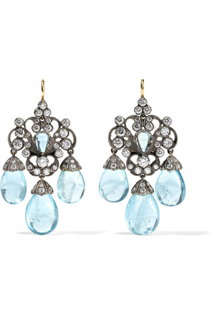 Collection Silver-plated, 18-karat Gold And Topaz Earrings - one size Fred Leighton