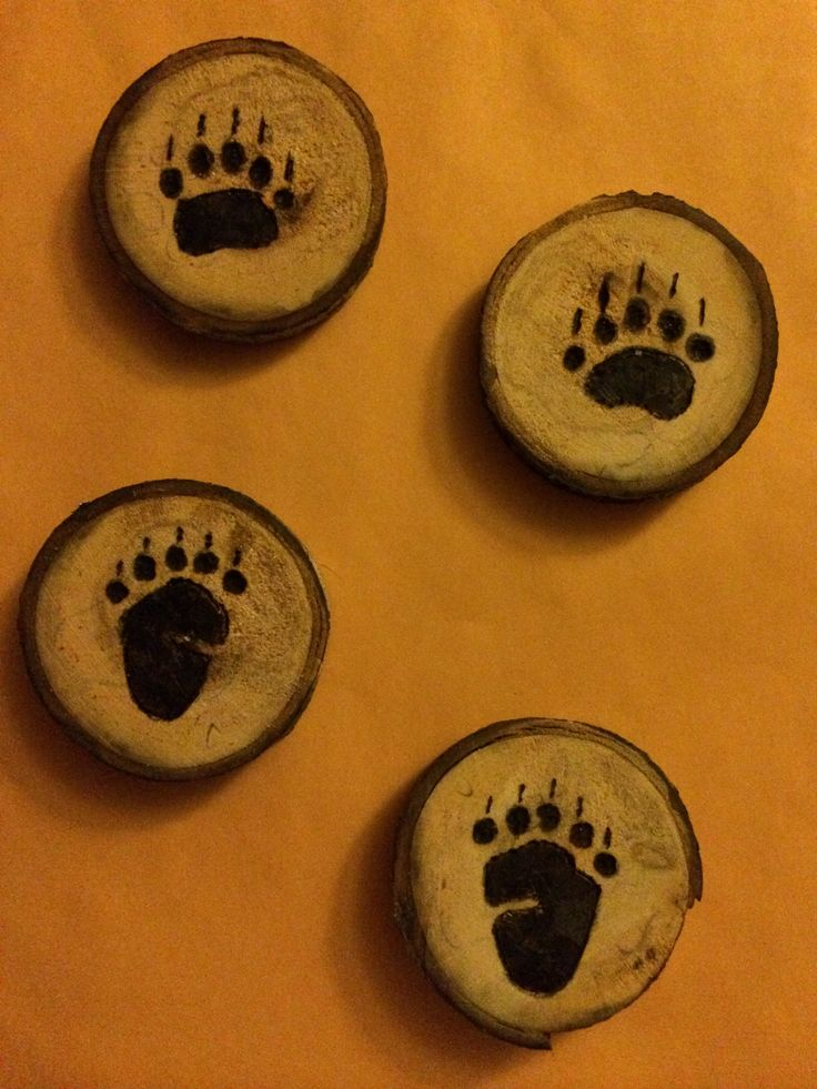 Bear Paws! Wood burning!  Pyrography.  Wood Craft.