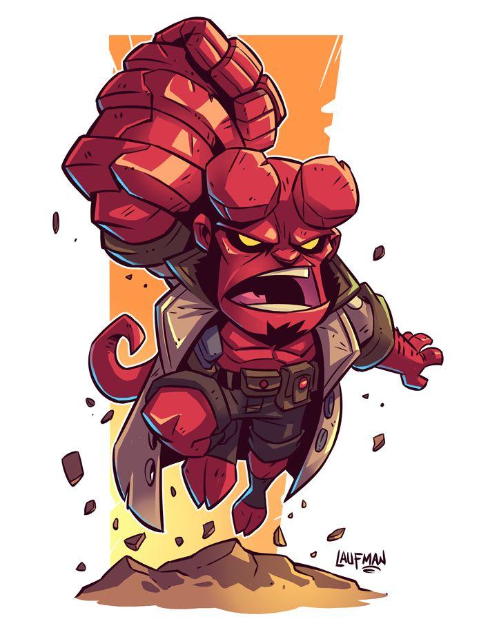 Chibi Hellboy by DerekLaufman on @DeviantArt