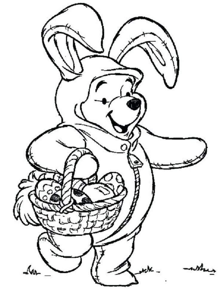 pooh bear easter coloring pages Disney coloring pages