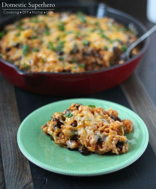 Cheesy Veggie Enchilada Skillet Rice_thumb