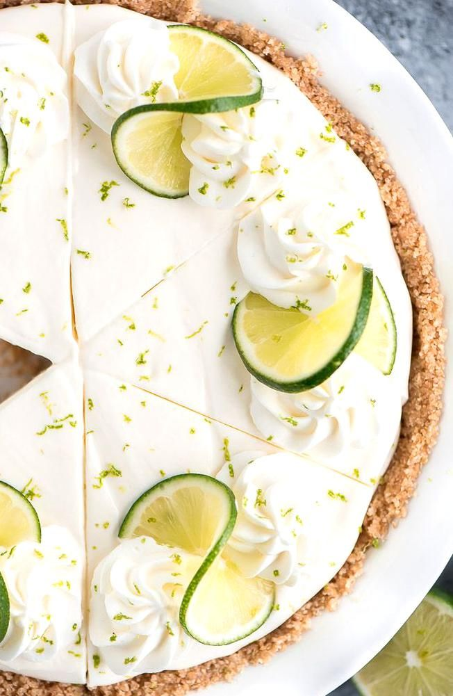 No Bake Key Lime Pie Is A Refreshing Dessert You Are Sure To Love Cream Sweetened Condensed Milk Cr In 2020 Key Lime Pie Cream Cheese Key Lime Pie Refreshing Desserts
