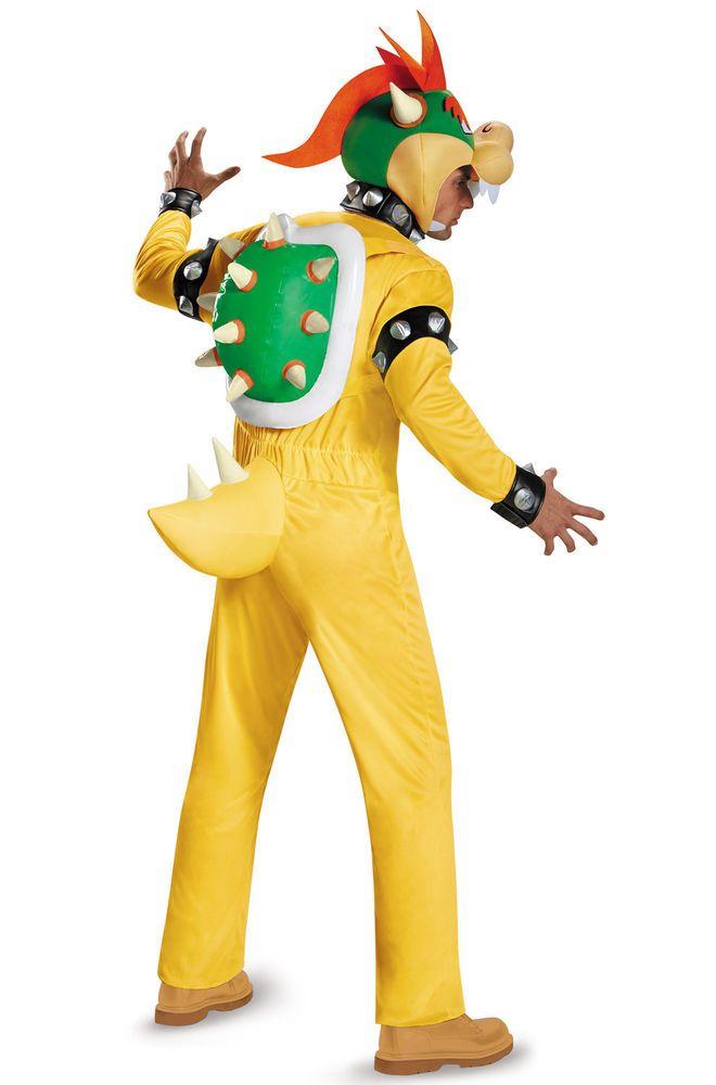 Super Mario Deluxe Adult Bowser Men S Plus Size Adult Halloween