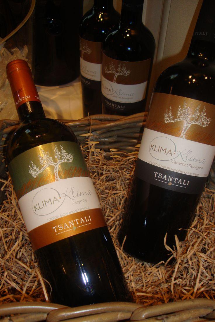 Klima-Klima #Tsantali #organic #wine #white #red #Assyrtiko