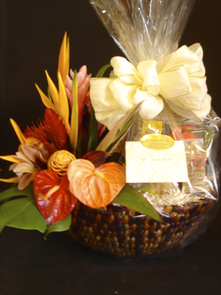 """Tropical Splendor"" The perfect gift for any occasion. from: EXQUISITE BASKET EXPRESSIONS. Price: $180.00"