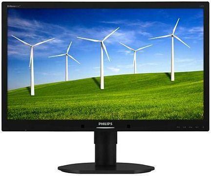 Producent: PhilipsModel: 231B4LPYCBPrzekątna (cale): 23″Rozdzielczość: 1920 x 1080 pxFormat: 16:9Matryca: TFT/TN, W-LEDKontrast: 20000000:1Jasność: 250 cd/m2Czas reakcji: 5 msKąt widzenia w poziomie: 170Kąt widzenia w pionie: 160Rozmiar plamki: 0,265 mmZłącza: D-Sub, DVI, USBTuner TV: NieGłośniki : Tak
