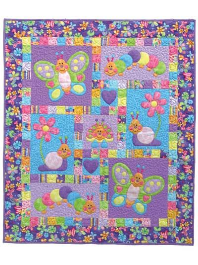 baby girl applique quilt patterns   Quilt Patterns - Bugsy Quilt Pattern