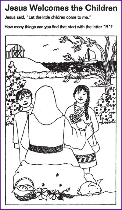 1000 images about bible preschool on pinterest crafts for Jesus blesses the children coloring page