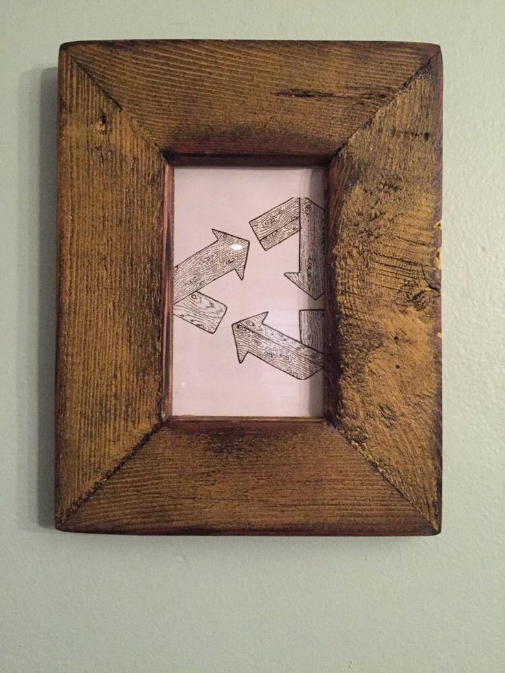 reclaimed barnwood rectangular distressed yellow picture frame 4 - Yellow Picture Frame