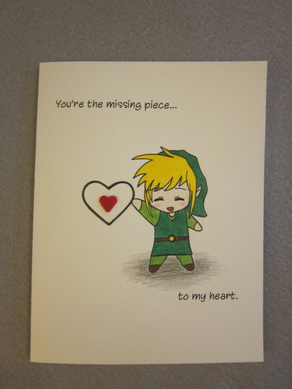Zelda Inspired Love Card by ABitofImagination ($4.95)