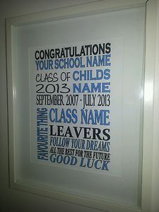 Graduation / School leavers personalised print