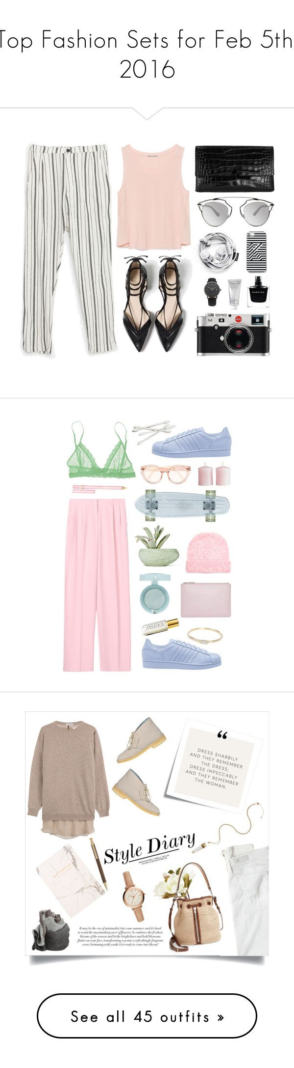 """""""Top Fashion Sets for Feb 5th, 2016"""" by polyvore ❤ liked on Polyvore featuring Zara, Vince, Christian Dior, Kate Spade Saturday, Leica, Narciso Rodriguez, African Botanics, women's clothing, women and female"""