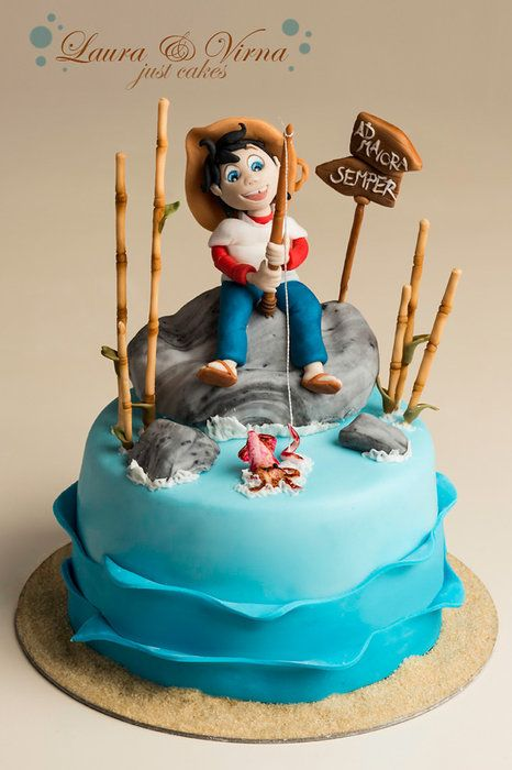 Sampei the fisherman cake - by Laura e Virna just cakes @ CakesDecor.com - cake decorating website