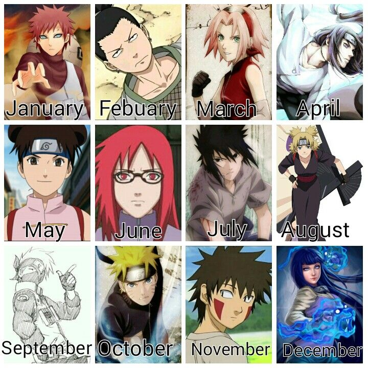 Anime Characters Zodiac Signs : Best images about anime on pinterest naruto the movie