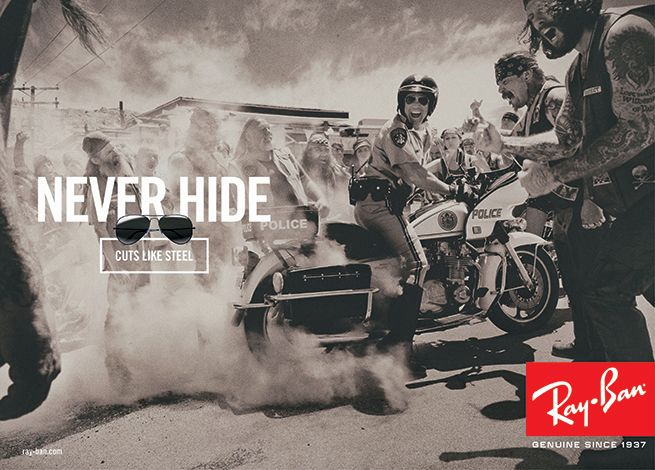 Ray-Ban Never Hide Campaign featuring style RB_3513