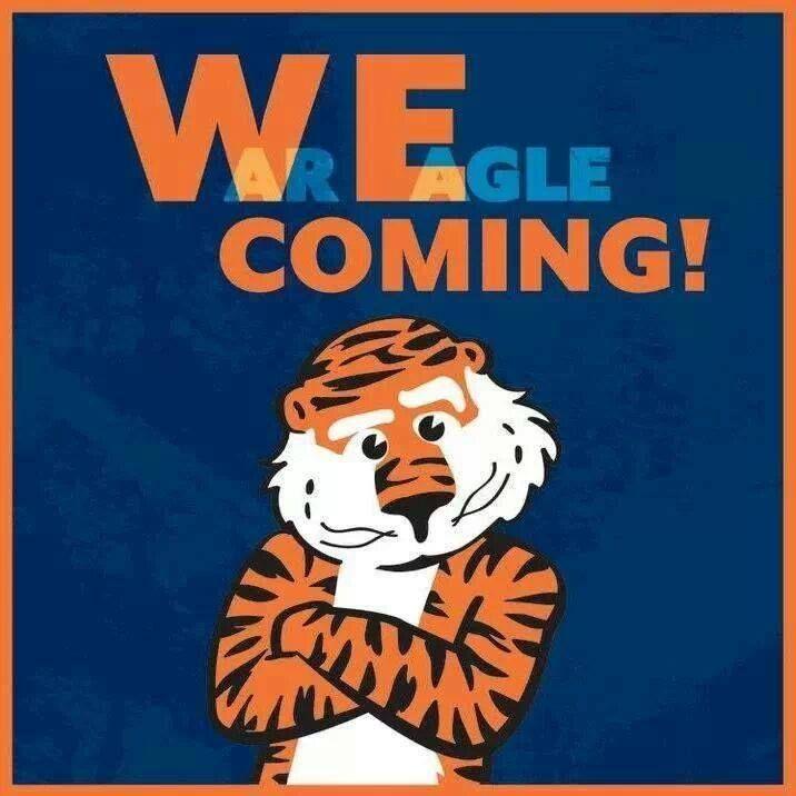 We coming! War Eagle!!