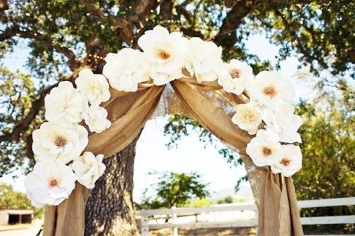 "Burlap Curtain Panels - 70"" x 7m (23ft) - Burlap wedding Drapes - Burlap wedding Decoration - Wedding - Rustic Wedding Decor - Set of 2"