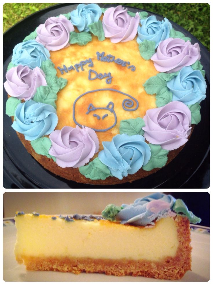 Robiola cheesecake with flower decoration