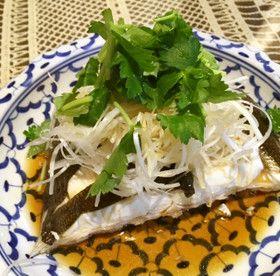 ☆マコガレイで清蒸鮮魚☆