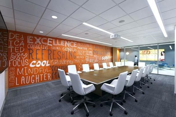 Boardroom Design Trends For 2018 That Include Custom Printed Wallpaper Graphic Murals Modern Conference Room Design Conference Room Decor Meeting Room Design