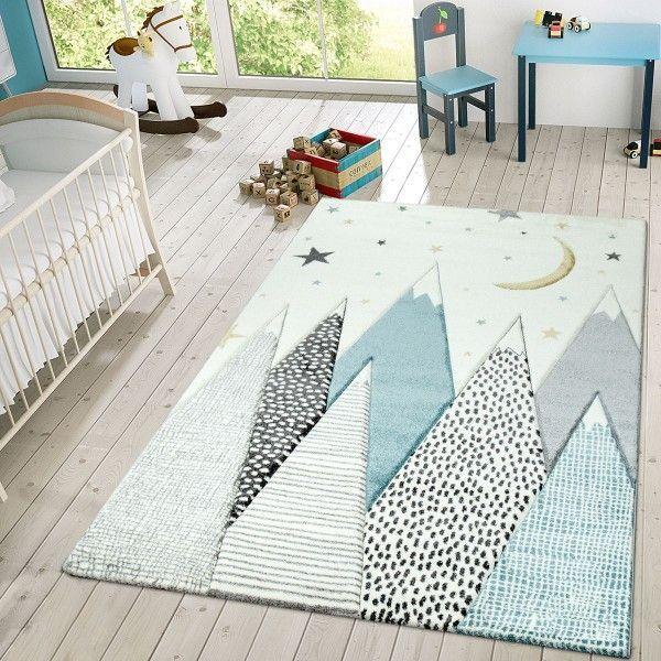 Kinder Teppich Berge Sterne Mond Pastell Blau Ein Kinderzimmer Wirkt Besonders In 2020 Teppich Kinderzimmer Blaue Kinderzimmer Kinder Zimmer