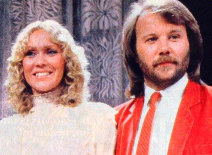Agnetha and Benny during the taping of the Dick Cavett show in March 1981 in Stockholm.ABBA
