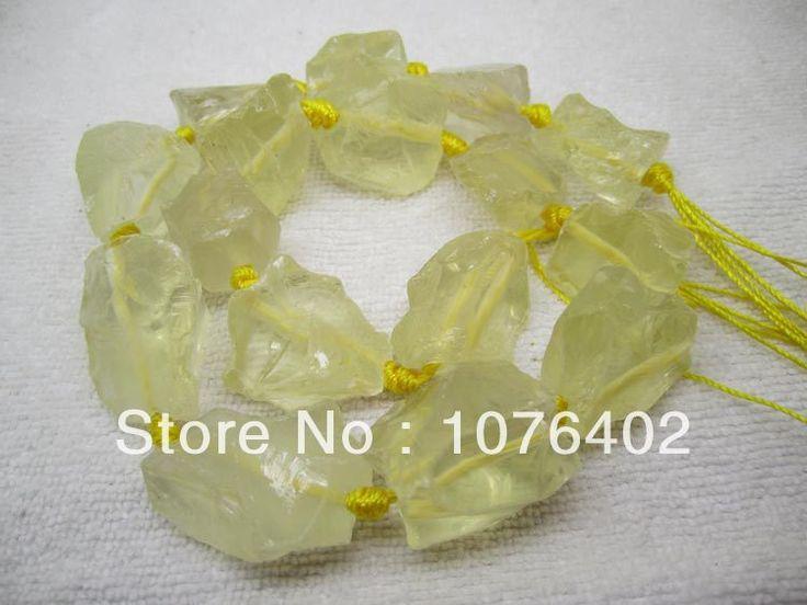 18x25 ~ 20x25 мм Натуральный Лимонный Кварц Freeform Loose Бусы 15