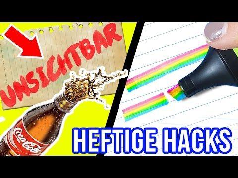 KRASSE BACK TO SCHOOL & UNI DIY HACKS im LIVE TEST! UNSICHTBARE Tinte, REGENBOGEN Textmarker - YouTube